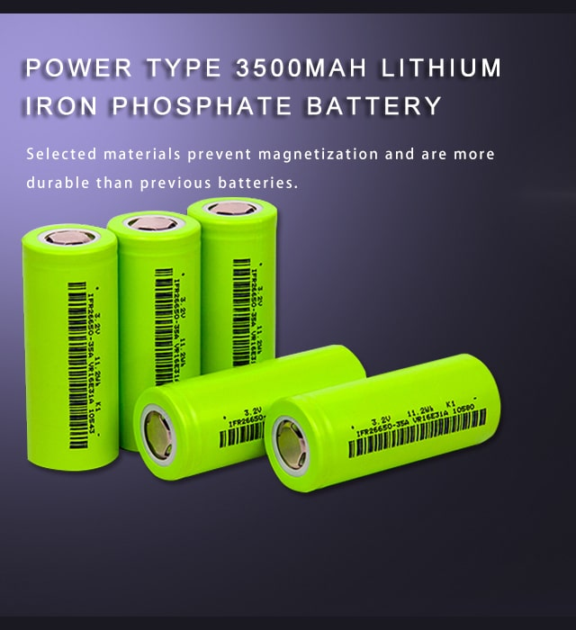 3500mAH Lithium iron phosphate battery