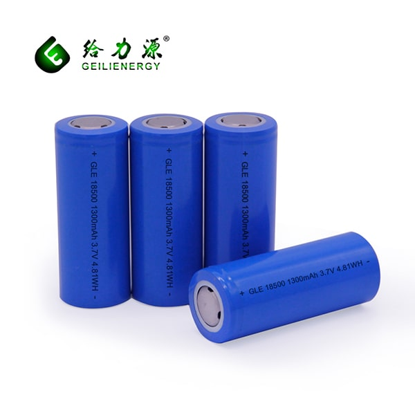 GLE 18500 1300MAH rechargeable battery