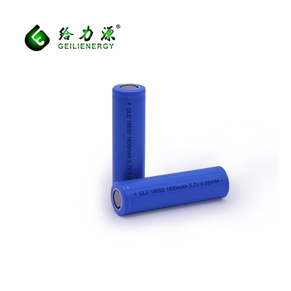 GLE 18650 rechargeable battery