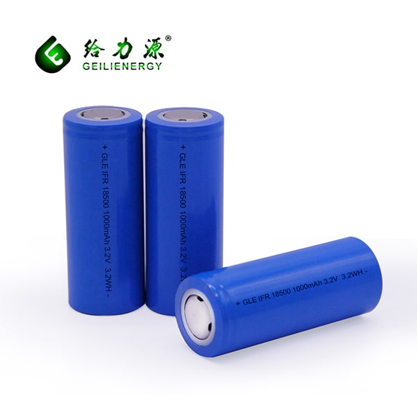 18500 1000MAH 3.2V lithium ion rechargeable battery